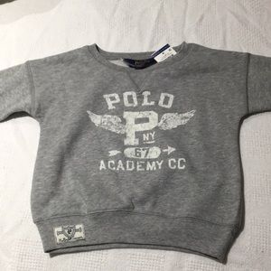 Ralph Lauren Heather grey polo sweatshirt 4t NWT